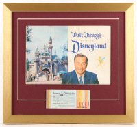 Disneyland 17x18.5 Custom Framed 1959 Guide Book Display with Ticket Booklet