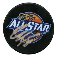 Claude Giroux Signed 2018 NHL All Star Game Logo Hockey Puck (JSA Hologram)