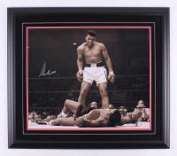 Muhammad Ali Signed 27x31 Custom Framed Photo Display (PSA LOA)