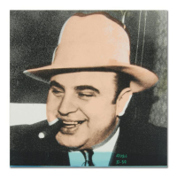 "Ringo Signed ""Al Capone"" 16x16 One-of-a-Kind Hand-Pulled Silkscreen and Mixed Media Painting on Canvas at PristineAuction.com"