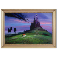 "Peter Ellenshaw Signed ""Aurora's Rescue"" Limited Edition 40x28 Custom Framed Giclee on Canvas from Disney Fine Art #86/300"