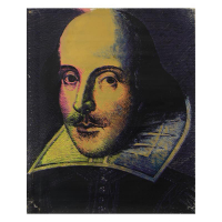 """Steve Kaufman Signed """"Shakespeare"""" Hand Painted Limited Edition 38x48 Silkscreen on Canvas #31/195 at PristineAuction.com"""