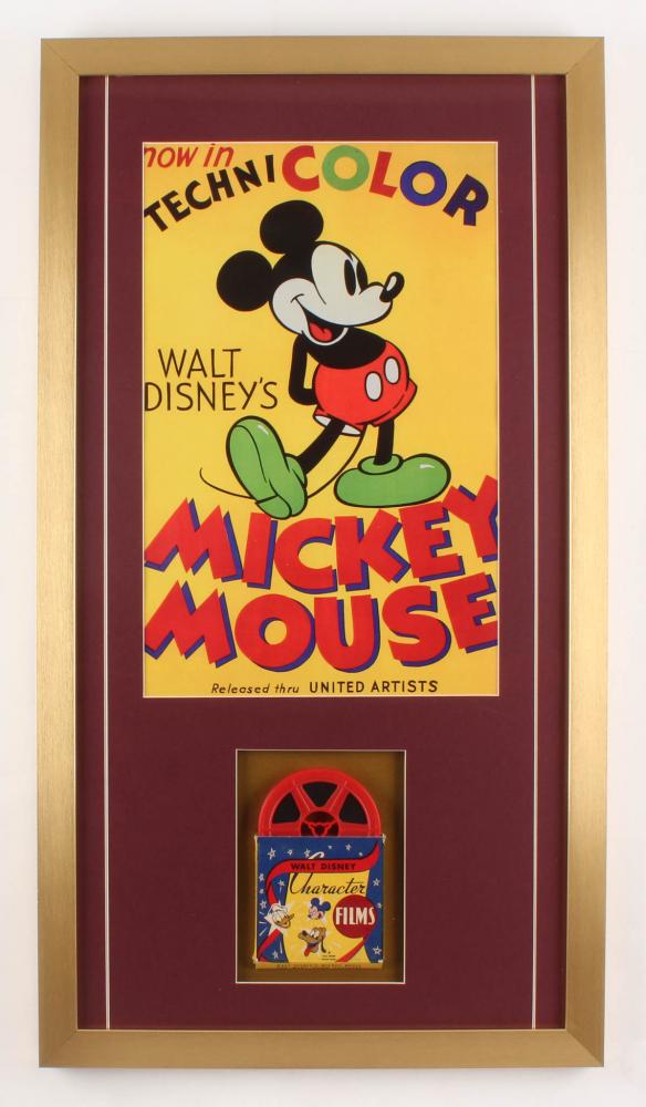 "Walt Disney's ""Mickey Mouse"" 17x31 Custom Framed Vintage Film Reel Display at PristineAuction.com"