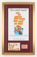 """Disneyland"" 17x27 Custom Framed Poster Print Display with Vintage Ticket & Envelope"