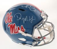A.J. Brown & D.K. Metcalf Signed Ole Miss Rebels Full-Size Speed Helmet (JSA COA)
