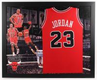 Michael Jordan Chicago Bulls 35x43 Custom Framed Jersey
