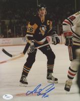 Mario Lemieux Signed Pittsburgh Penguins 8x10 Photo (JSA COA)