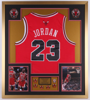 Michael Jordan Chicago Bulls 32x36 Custom Framed Jersey Display