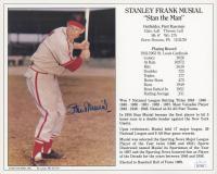 Stan Musial Signed St. Louis Cardinals 8x10 Career Stat Photo (JSA COA)