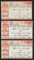 Lot of (3) 1994 Top Rank / MGM Grand Garden Boxing Ticket Stubs