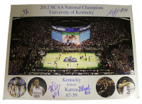 2012 Kentucky Wildcats National Champions 16x20 Photo Team-Signed by (5) with Anthony Davis, Michael Kidd Gilchrist, Doron Lamb, Marquis Teague (Sports Collectibles Hologram)
