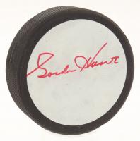 Gordie Howe Signed Detroit Red Wings Logo Hockey Puck (JSA COA)