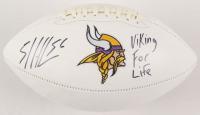 "E. J. Henderson Signed Minnesota Vikings Logo Football Inscribed ""Viking For Life"" (JSA COA)"