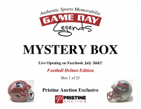 Game Day Legends Mystery Box Full-Size Helmet Edition -Tom Brady (x3), Patrick Mahomes, Dak Prescott & More - Live Box Break #1/25