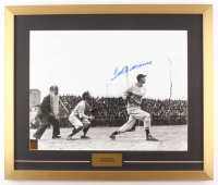 Ted Williams Signed Boston Red Sox 21x25 Custom Framed Photo Display (Williams COA & PSA LOA)