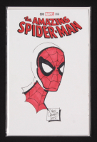 "Chris Caniano Signed 2017 ""The Amazing Spiderman"" #88 Blank Cover Variant Marvel Comic Book with Sketch (Dymanic Forces COA) at PristineAuction.com"