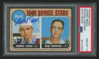 """Johnny Bench Signed 1968 Topps #247 Inscribed """"10x Gold Glove"""" (PSA Encapsulated)"""