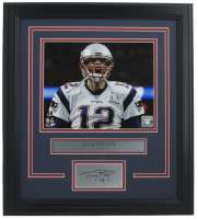 Tom Brady New England Patriots 11x14 Custom Framed Photo Display at PristineAuction.com