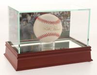 Bob Gibson Signed OML Baseball with Display Case (PSA COA)