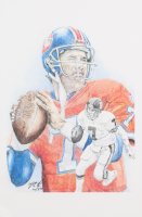 John Elway - Broncos - Brian Barton 12x19 Signed Limited Edition Lithograph #/250 (PA COA)