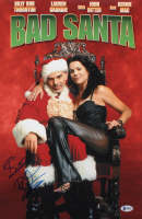 "Billy Bob Thornton Signed ""Bad Santa"" 12x18 Movie Poster Photo (Beckett COA)"