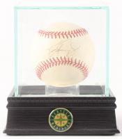 Ken Griffey Jr. Signed OAL Baseball with Display Case (PSA COA)