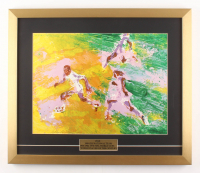 "LeRoy Neiman ""Pele"" 19.5x23 Custom Framed Print Display"