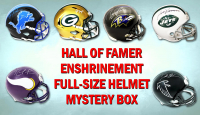 Football Hall of Famer Signed Full-Size Helmet Enshrinement Mystery Box Series 1 (Limited to 100)