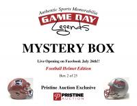 Game Day Legends Mystery Box Full-Size Helmet Edition -Tom Brady (x3), Patrick Mahomes, Dak Prescott & More - Live Box Break #2/25