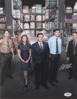 """The Office"" 11x14 Photo Cast-Signed by (4) With Steve Carell, Jenna Fischer, Rainn Wilson & B.J. Novak (PSA LOA) at PristineAuction.com"