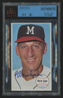 Warren Spahn Signed 1964 Topps Giants #31 (JSA Encapsulated)