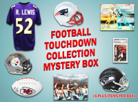 Football TOUCHDOWN Mystery Box - Series 1 (Limited to 100) (6+ Autograph Items per Box) at PristineAuction.com