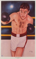 """Ferdie Pacheco Signed 15.75x24.5 """"Rocky Marcianoz"""" Lithograph Inscribed """"Your Friend"""" (Beckett COA)"""