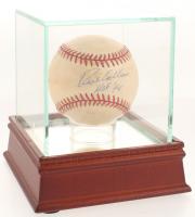 "Richie Ashburn Signed ONL Baseball Inscribed ""HOF 95"" with Display Case (PSA COA)"
