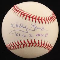 """Whitey Ford Signed OML Baseball Inscribed """"'61 W.S. MVP"""" (JSA COA)"""