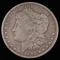 1893-CC $1 Morgan Silver Dollar