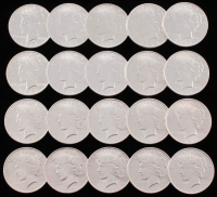 Uncirculated Peace Silver Dollar Roll with (20) Coins