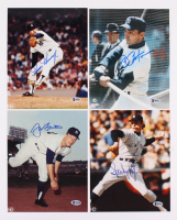 Lot of (4) MLB 8x10 Photos Signed by (4) with Goose Gossage, Joe Pepitone, Sparky Lyle & Jim Bouton (Beckett COA)