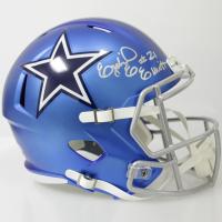 Ezekiel Elliott Signed Dallas Cowboys Full-Size Blaze Speed Helmet (Beckett COA)