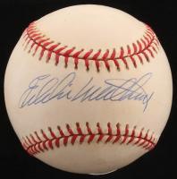 Eddie Mathews Signed ONL Baseball (PSA COA)