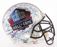 NFL Hall of Famers Full-Size Authentic On-Field Helmet Signed by (35) with Barry Sanders, Gale Sayers, Jim Brown, Paul Hornung, Earl Campbell (JSA LOA)