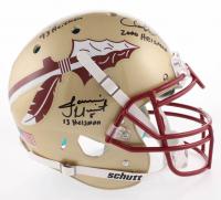 Charlie Ward, Chris Weinke & Jameis Winston Signed Florida State Seminoles Full-Size Authentic On-Field Helmet with (3) Heisman Inscriptions (Radtke COA)