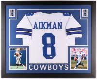 Troy Aikman Signed Dallas Cowboys 35x43 Custom Framed Jersey (JSA COA & Aikman Hologram)