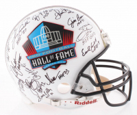 NFL Hall of Famers Full-Size Authentic On-Field Helmet Signed by (17) with Earl Campbell, Jim Brown, Marcus Allen, Barry Sanders, Larry Csonka (JSA Hologram)