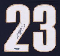 LeBron James Signed 33.5x41.5 Custom Framed Jersey Display (UDA Hologram) at PristineAuction.com