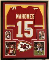 Patrick Mahomes Signed Kansas City Chiefs 34x42 Custom Framed Jersey (Beckett COA)