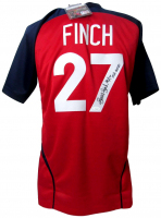 "Jennie Finch Signed Jersey Inscribed ""USA Gold"" (JSA COA)"