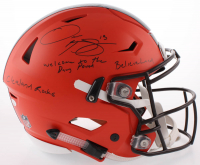 Odell Beckham Jr. Signed Cleveland Browns Full Size Authentic On-Field Speed Flex Helmet with Rare Full Name Signature and (3) Inscriptions  (JSA COA)