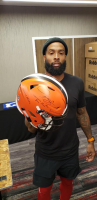 Odell Beckham Jr. Signed Cleveland Browns Full Size Authentic On-Field Speed Flex Helmet with Rare Full Name Signature and (3) Inscriptions  (JSA COA) at PristineAuction.com