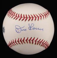 Don Larsen Signed OML New York Yankees 100th Anniversary Commemorative Baseball (Fanatics Hologram & MLB Hologram)